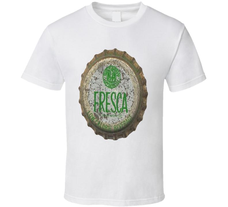 Fresca Lime Citrus Drink Old Bottle Cap T shirt