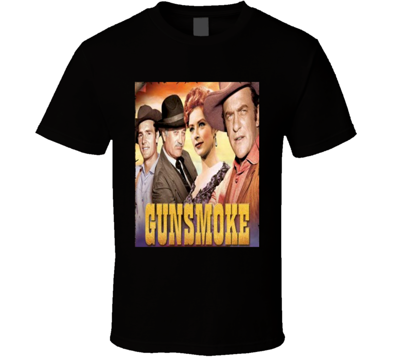 Gunsmoke Retro TV Show T shirt
