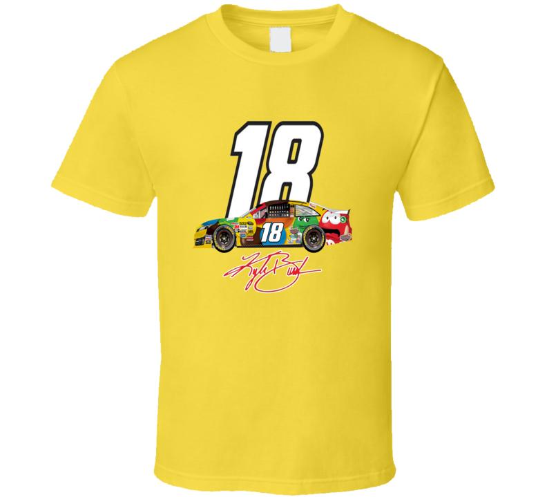Kyle Busch 18 M And Ms Car Popular Nascar Driver T shirt