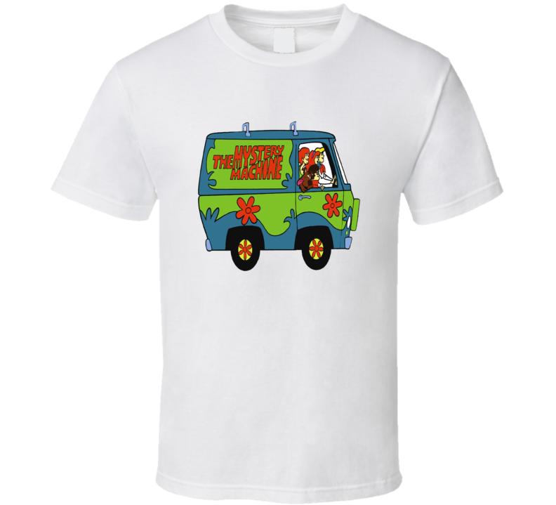 Scooby Doo Mystery Machine Retro Cartoon T shirt