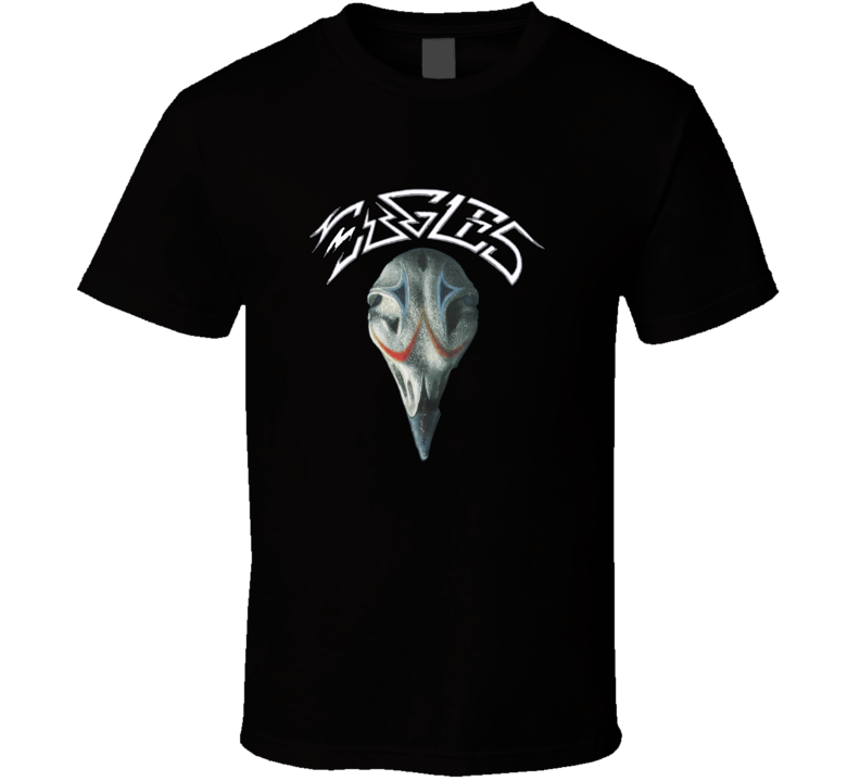 The Eagles 70s 80s Rock Band Skull T shirt