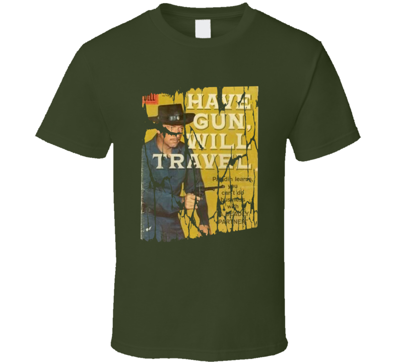 Have Gun Will Travel Retro TV Show Distressed Fan T shirt