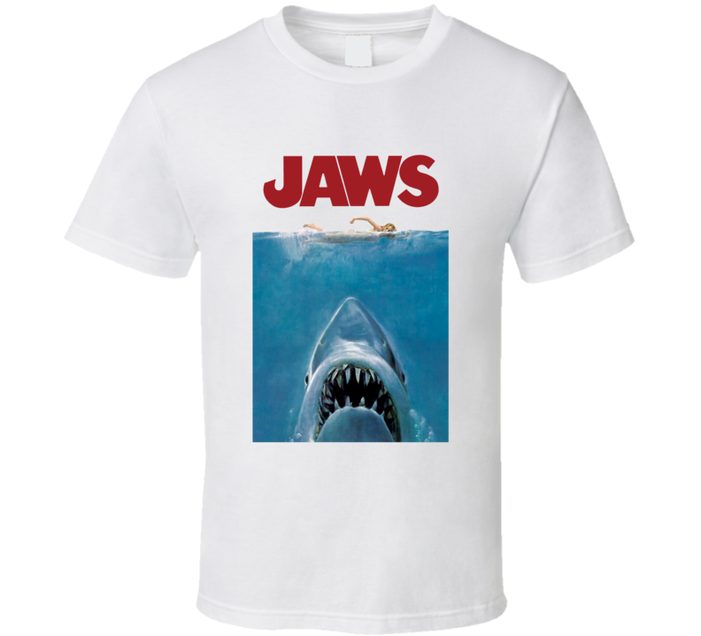 Jaws Popular 1975 Movie Poster T shirt