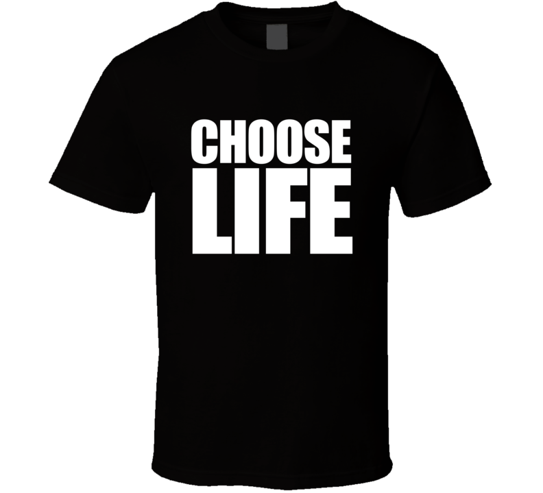 Choose Life White Print T shirt