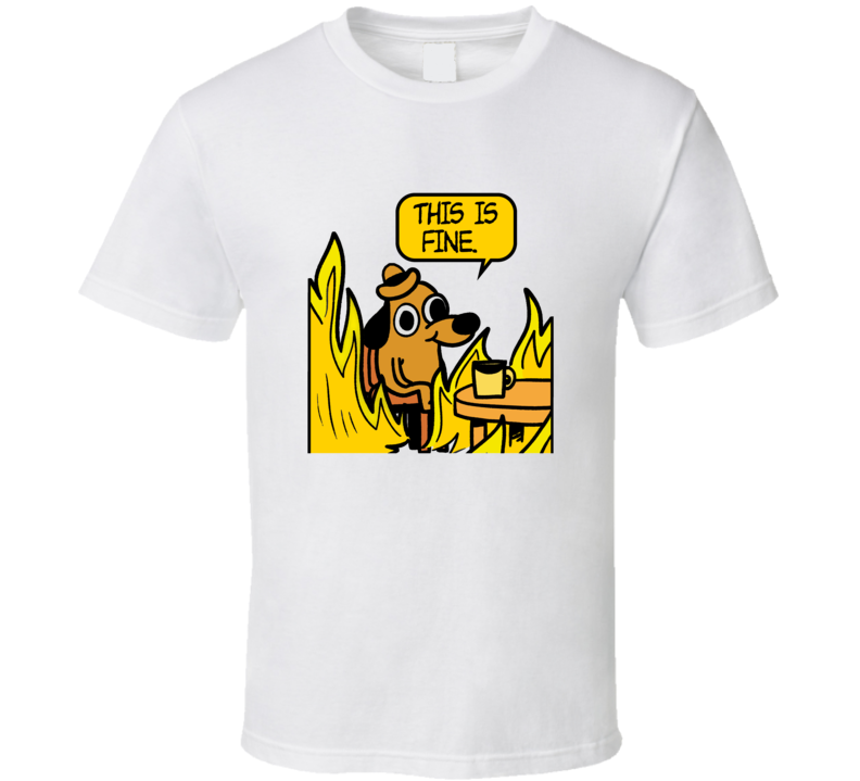 Question Hound This Is Fine Meme T shirt