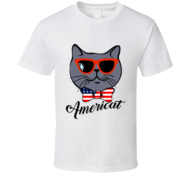 Americat Patriotic Cat Lovers T shirt