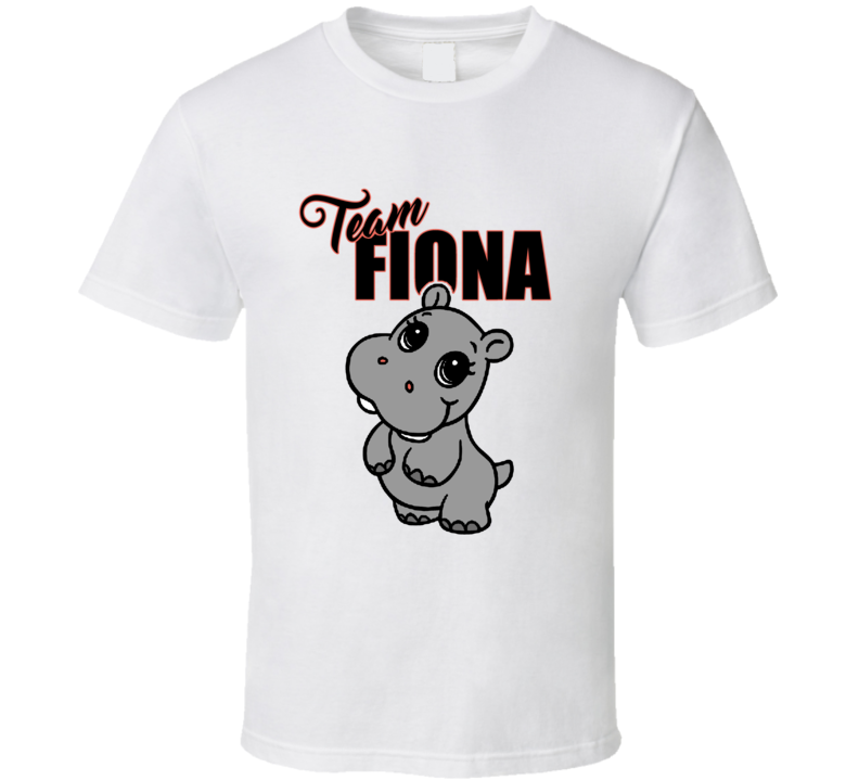 Team Fiona Cute Hippo T shirt