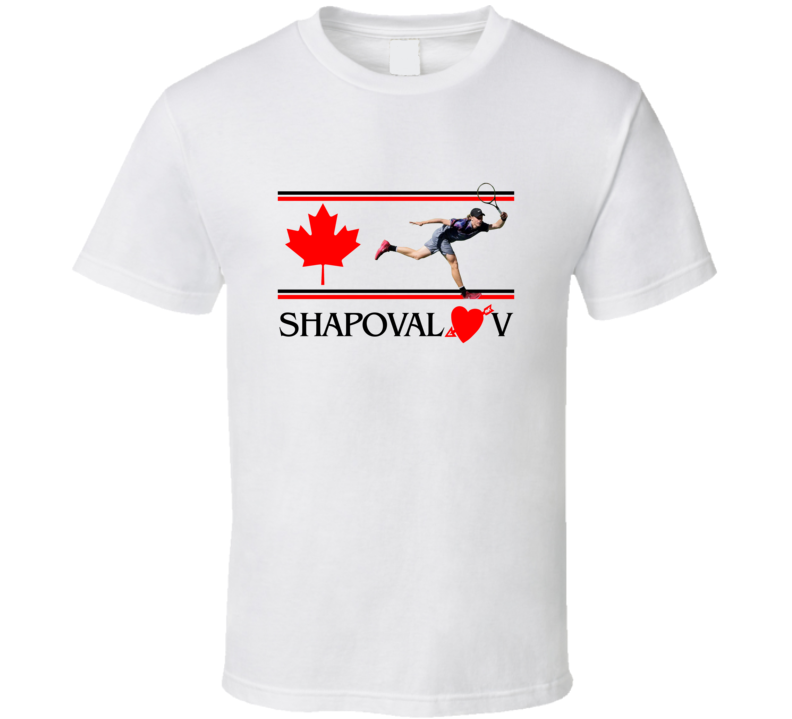 Denis Shapovalov Canadian Rising Star Tennis Player Fan T shirt