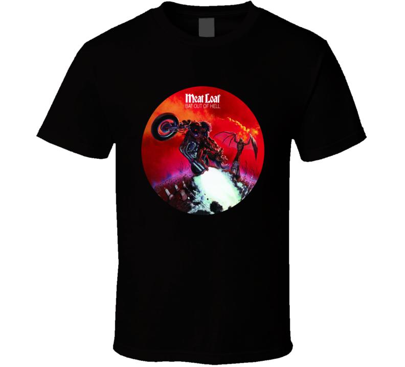 Meatloaf Bat Out Of Hell Popular 70s Rock Musician Fan T shirt
