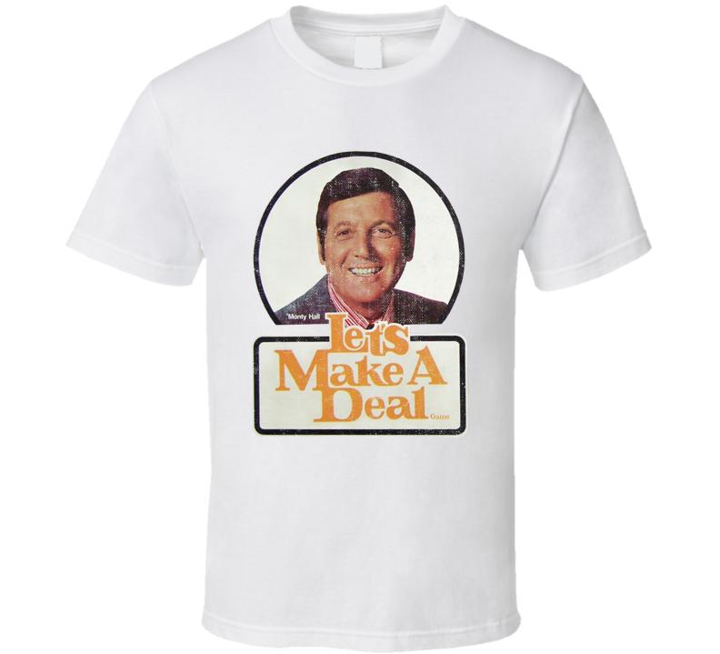 Monty Hall Retro Lets Make A Deal Popular TV Game Show T shirt