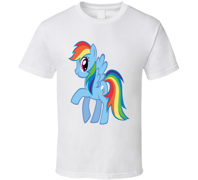 Brony My Little Pony Rainbow Dash Fan T Shirt