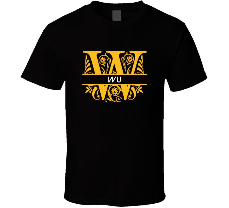 Wu Family Surname Monogram T Shirt