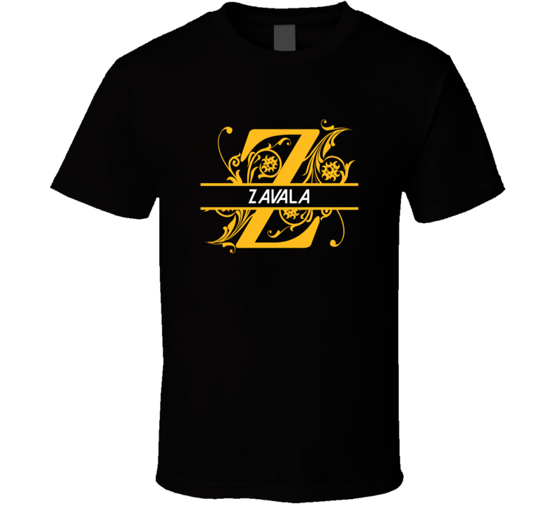 Zavala Family Surname Monogram T Shirt