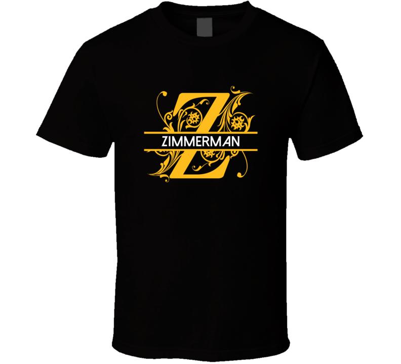 Zimmerman Family Surname Monogram T Shirt