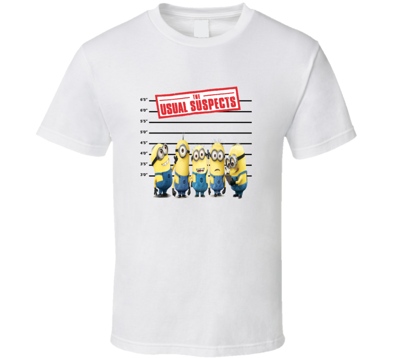 Minions The Usual Suspects Funny Fan T Shirt