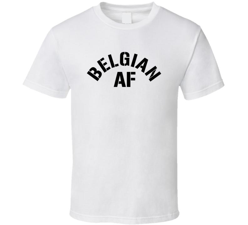 Belgian Af Proud Belgium Heritage T Shirt