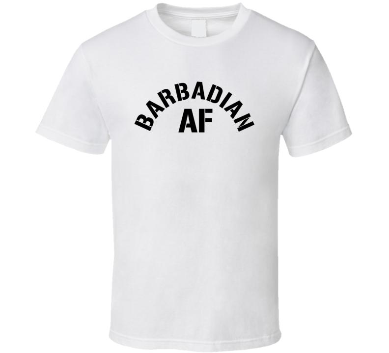 Barbadian Af Proud Barbados Heritage T Shirt