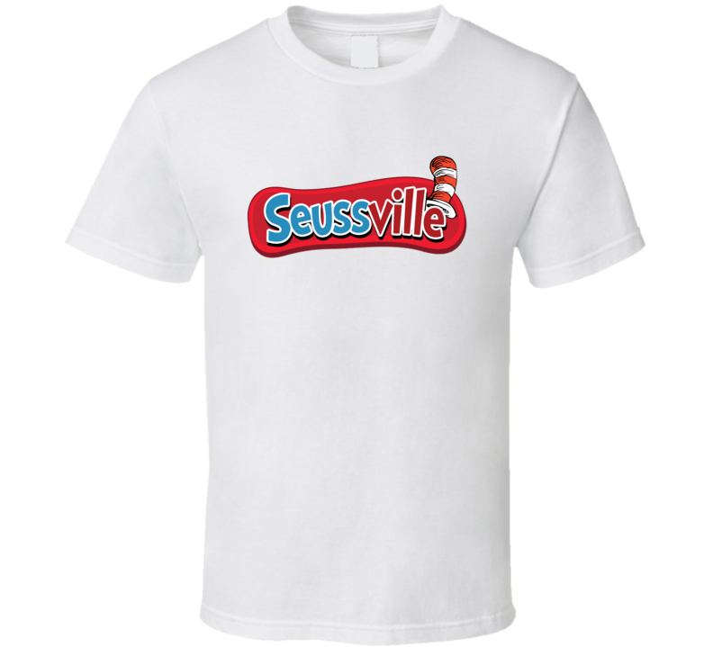 Seussville Dr Seuss Popular Childrens Book T Shirt