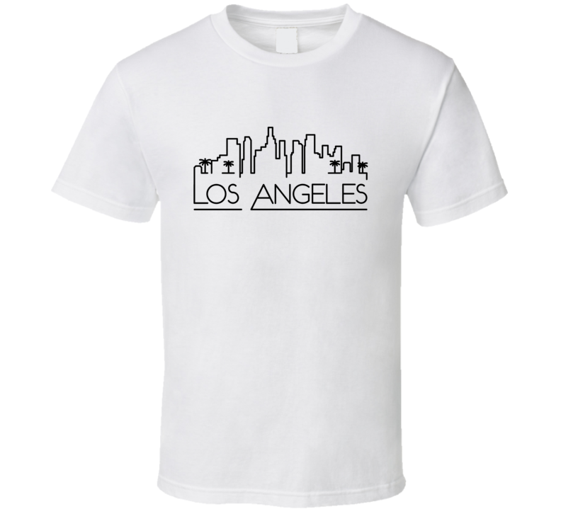 Los Angeles Skyline Line Art Home Town Pride T Shirt