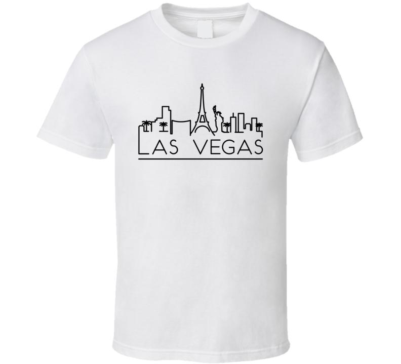 Las Vegas Skyline Line Art Home Town Pride T Shirt