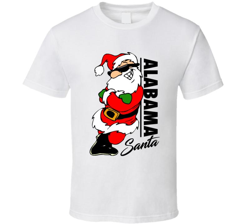 Alabama Santa Cool Sunglass Wearing Santa Christmas T Shirt