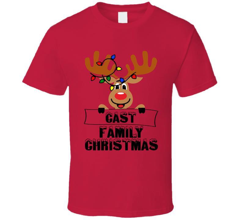 Family Christmas Cute Reindeer T Shirt