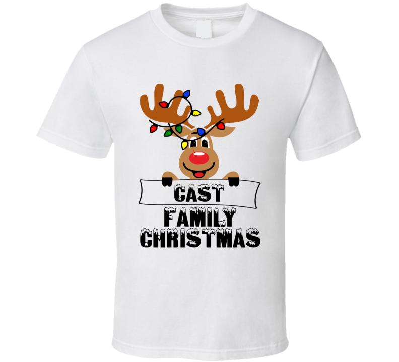 Family Christmas Cute Reindeer T Shirt