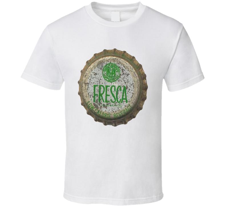 Fresca Lime Citrus Drink Old Soda Bottle Cap T Shirt