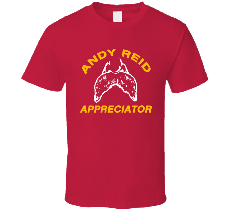 Andy Reid Appreciator  Moustache Kansas City Football Fan T Shirt