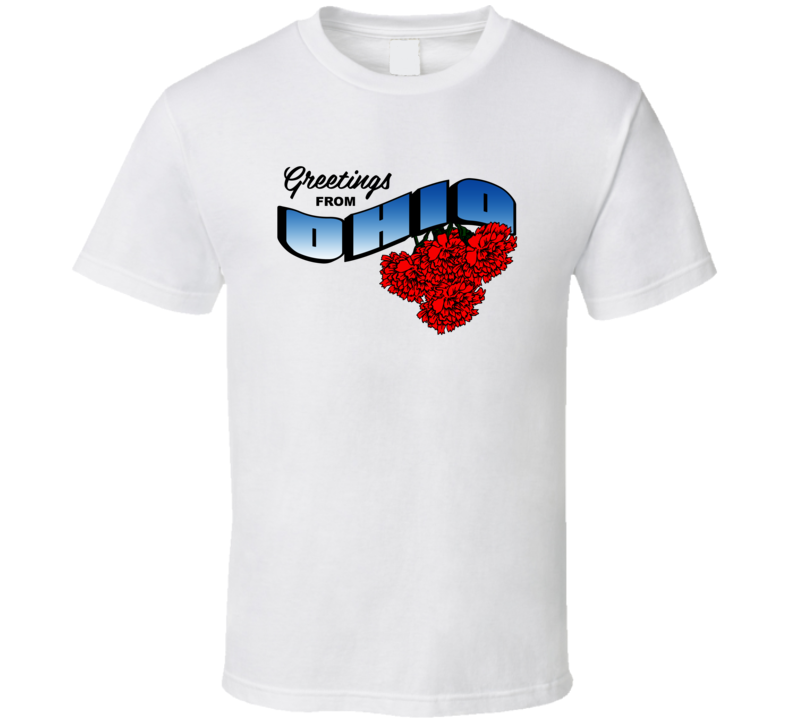 Ohio Greetings From Ohio Large Letter Postcard State Flower T Shirt