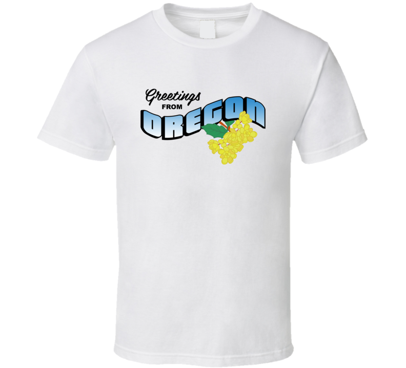 Oregon Greetings From Oregon Large Letter Postcard State Flower T Shirt