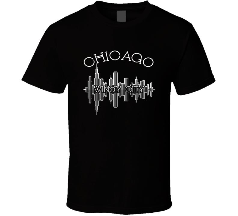 Chicago The Windy City Nickname Skyline Favorite City T Shirt