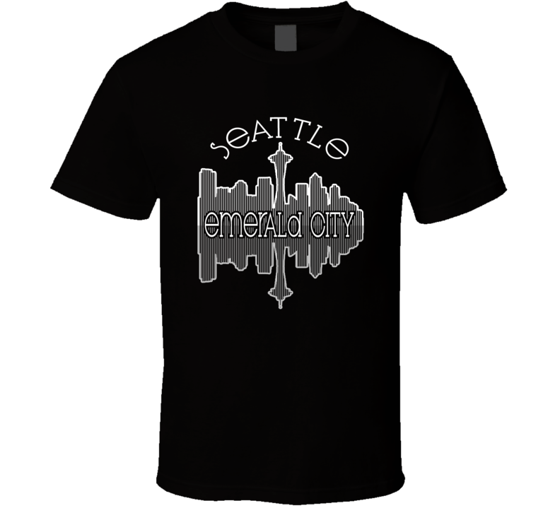 Seattle Emerald City Nickname Skyline Favorite City T Shirt