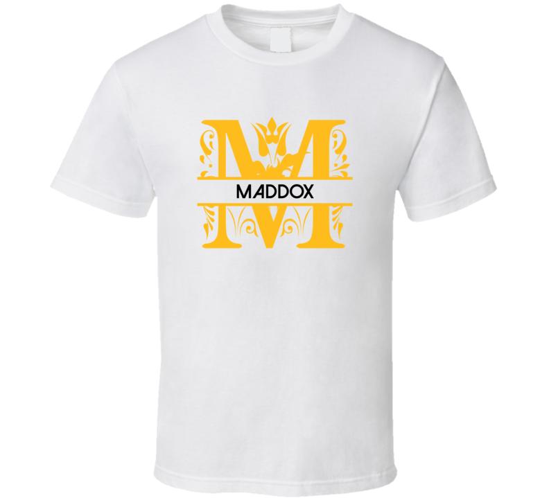 Maddox Family Surname Monogram Last Name T Shirt