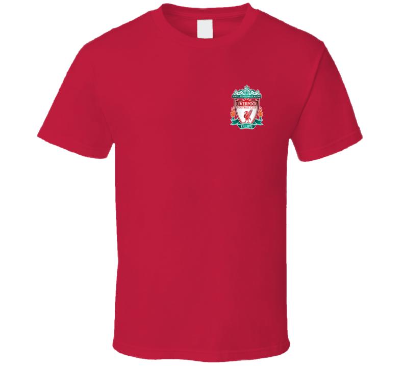 Liverpool Fc Premier League Champs 2020 Chest Emblem Fan T Shirt