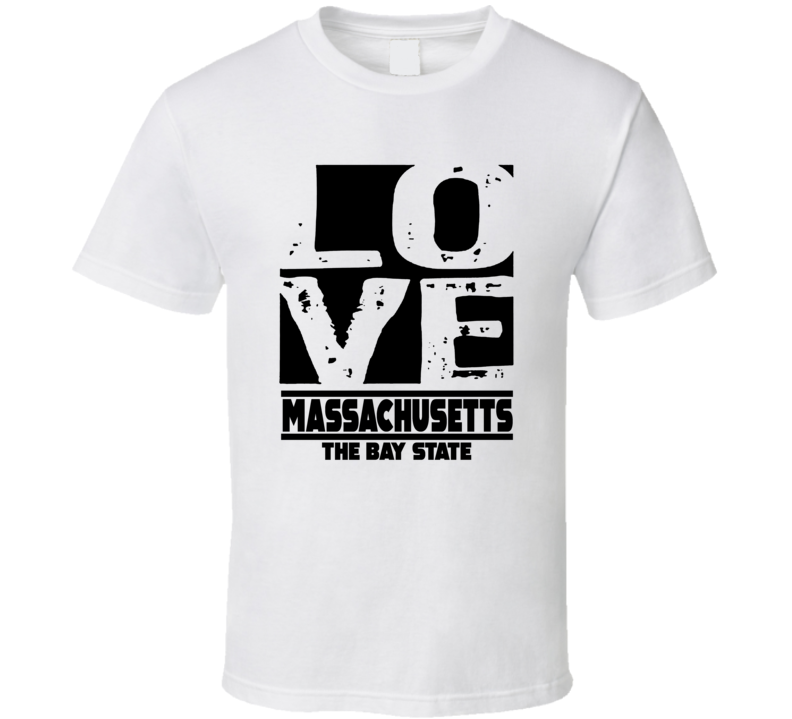 Massachusetts Love The Bay State Hometown Pride T Shirt
