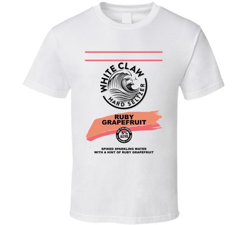 White Claw Ruby Grapefruit Hard Seltzer Halloween Group Costume T Shirt