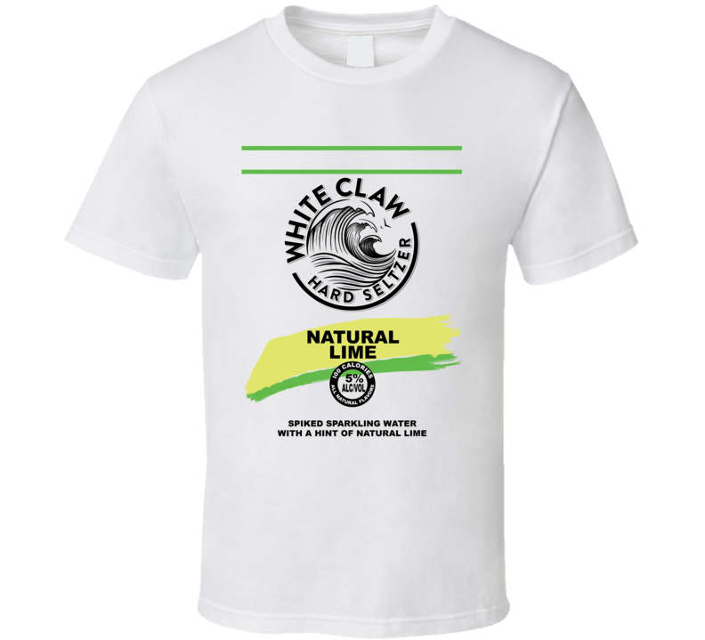 White Claw Natural Lime Hard Seltzer Halloween Group Costume T Shirt