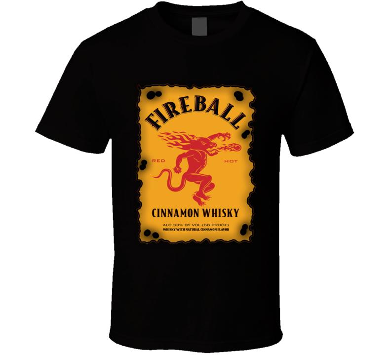 Fireball Cinnamon Whiskey Lovers T Shirt