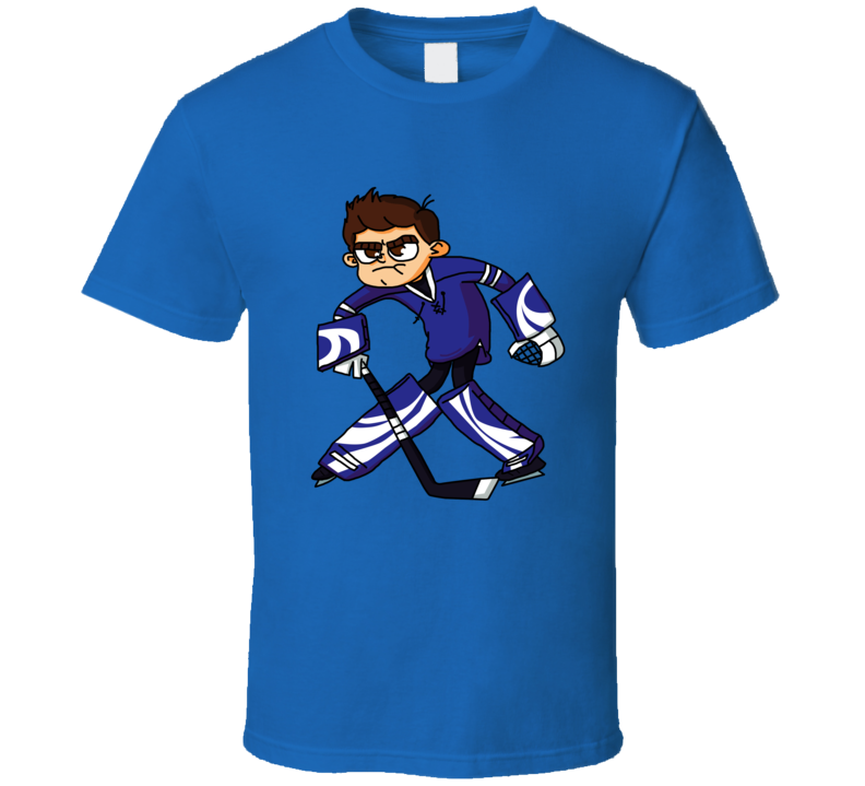 Hockey Goalie Caricature T Shirt