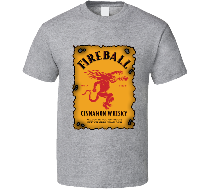 Fireball Cinnamon Whiskey Lovers T Shirt