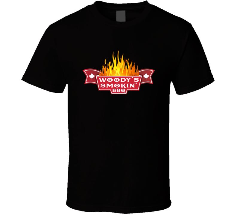 Woody's Smokin' Bbq Flames T Shirt