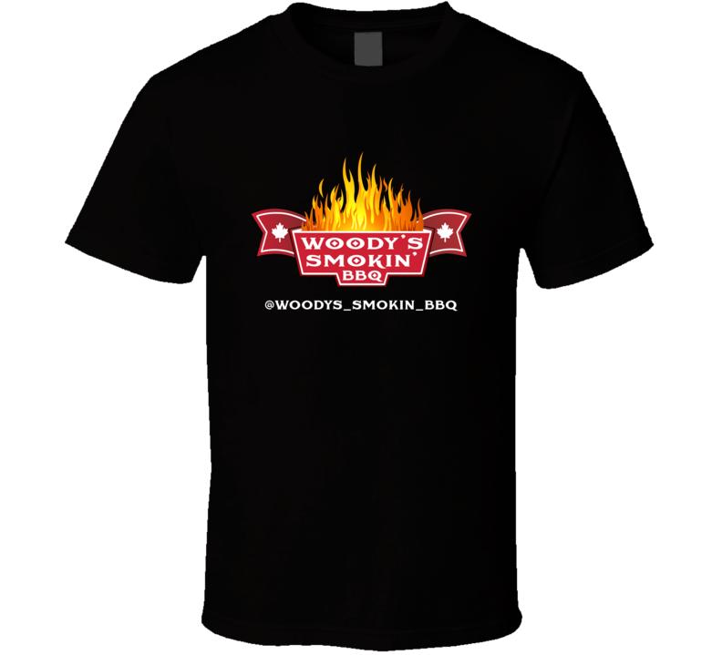 Woody's Smokin' Bbq Flames Foodie T Shirt