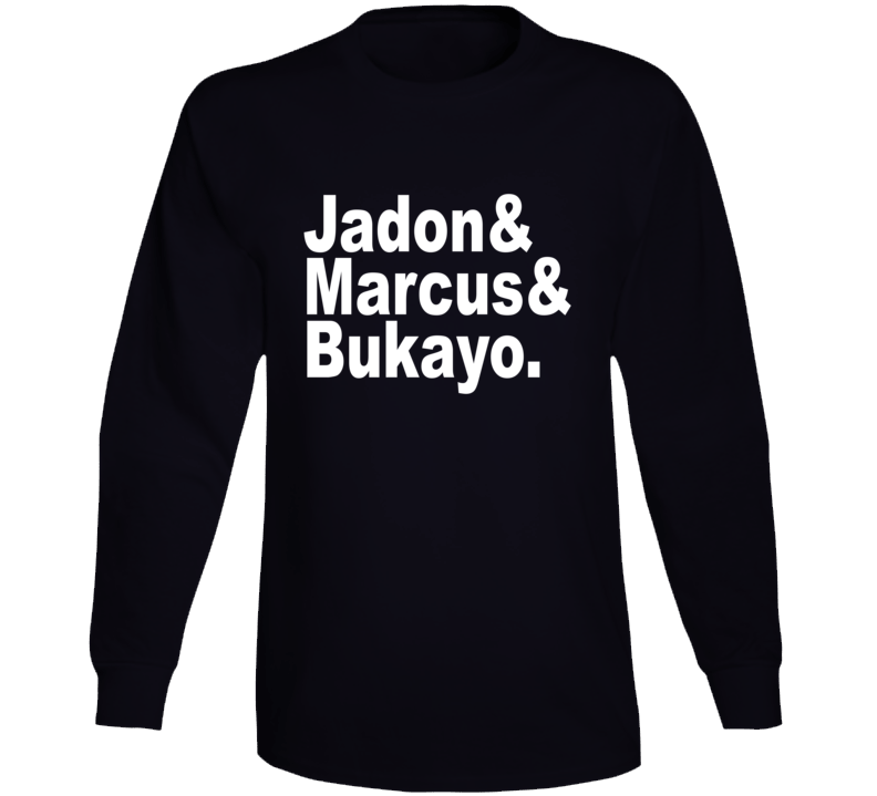 Jadon And Marcus And Bukayo England Euro Players Supporter Long Sleeve T Shirt
