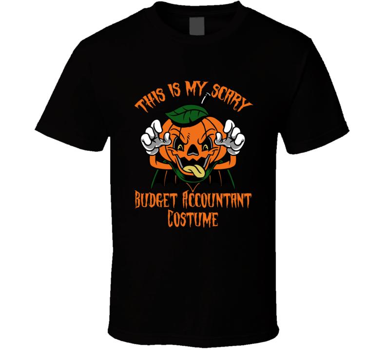 Scary Budget Accountant Halloween Costume T Shirt