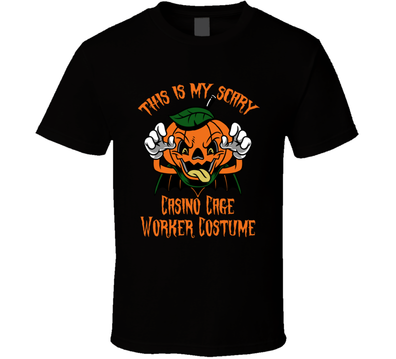 Scary Casino Cage Worker Halloween Costume T Shirt