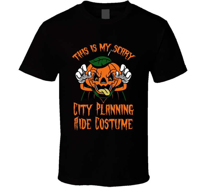 Scary City Planning Aide Halloween Costume T Shirt