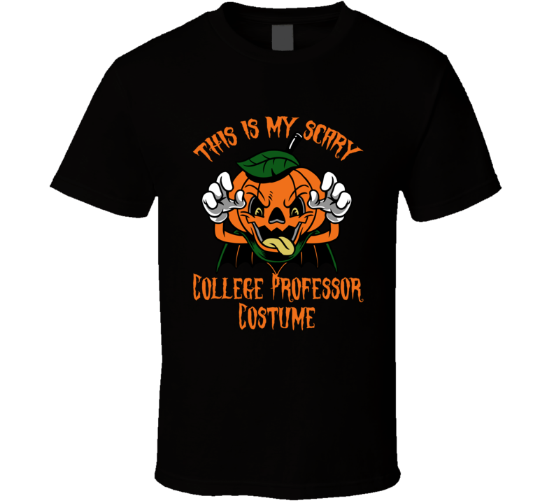 Scary College Professor Halloween Costume T Shirt