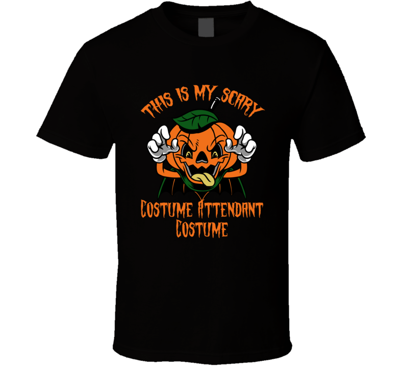 Scary Costume Attendant Halloween Costume T Shirt