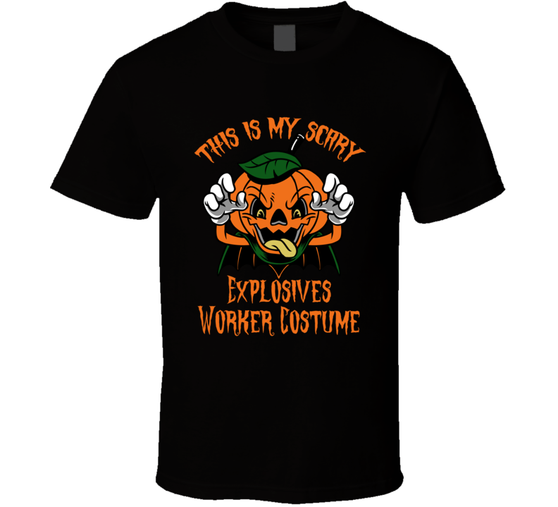 Scary Explosives Worker Halloween Costume T Shirt